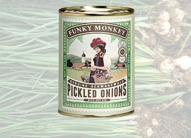 Funky Monkey Pickled Onions